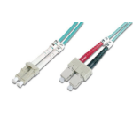 """Add-On Computer Peripherals (ACP) SC - LC, LOMM, OM4, 2m fiber optic cable 78.7"""" (2 m) OFC Turquoise"""