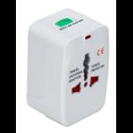 QVS PA-C3WH power plug adapter Universal White