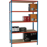 Standard Duty 1200x300mm Painted Orange Shelf Unit Blue 378983