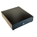 APG Cash Drawer VP320-BL1416-B4 Stainless steel Black cash tray