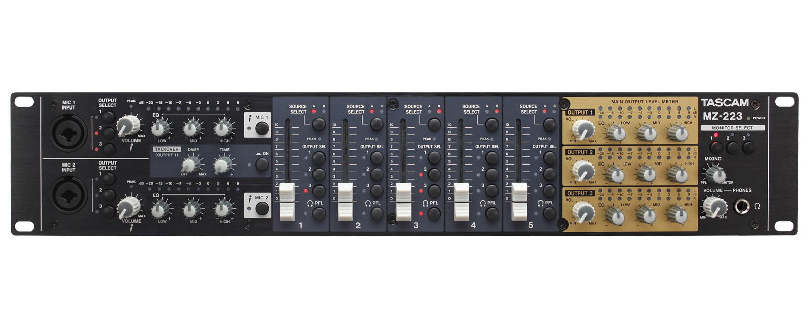 Tascam MZ-223 5channels Black audio mixer