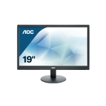 "AOC Basic-line E970SWN LED display 47 cm (18.5"") 1366 x 768 pixels WXGA LCD Flat Matt Black"