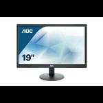 "AOC Value-line E970SWN LED display 47 cm (18.5"") WXGA LCD Plana Mate Negro"