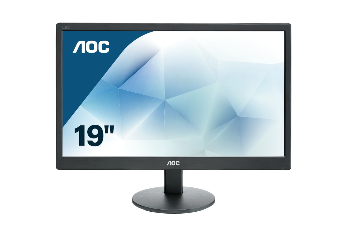 Desktop Monitor - E970SWN - 18.5in - 1366x768 (HD) - Black - 5ms