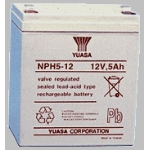 Yuasa NPH5-12 Sealed Lead Acid (VRLA) 5000mAh 12V rechargeable battery