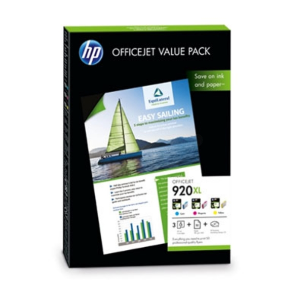 HP CH081AE (920XL) Ink cartridge multi pack, 700 pages, Pack qty 3