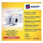 Avery PLP1226 Price tag Permanent White 15000pc(s) self-adhesive label