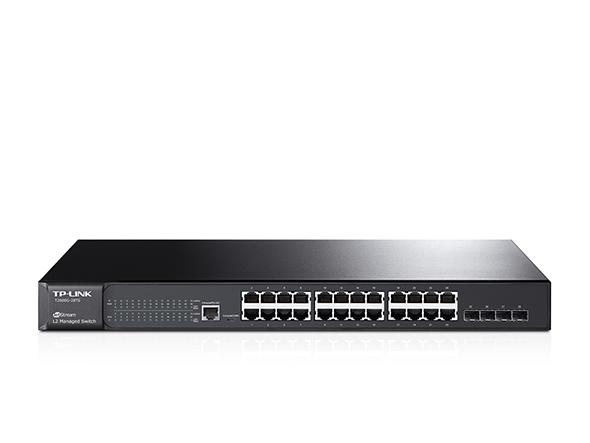 TP-LINK T2600G-28TS Managed network switch L2 Gigabit Ethernet (10/100/1000) 1U Black