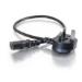 C2G 0.5m Universal Power Cord Negro 0,5 m
