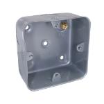 Cablenet Metal Back Box Single Gang 40mm for 20mm Conduit