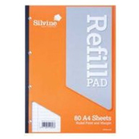 Office Supplies Silvine Refill Pad A4 80lf Fm Side Bound A4srp - 6 Pack
