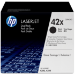 HP 42X Original Negro 2 pieza(s)