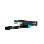 Lexmark C950X2CG Toner cyan, 22K pages @ 5% coverage