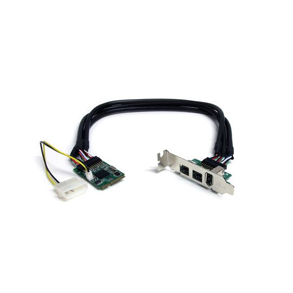 StarTech.com 3 Port 2b 1a 1394 Mini PCI Express FireWire Card Adapter