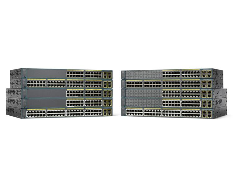 Cisco Catalyst WS-C2960+24LC-L switch Gestionado L2 Fast Ethernet (10/100) Negro Energía sobre Ethernet (PoE)