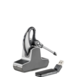 Plantronics W430-M DECT Monaural Ear-hook Black,Silver headset