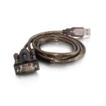 C2G 26887 1.5m USB DB9 Black serial cable