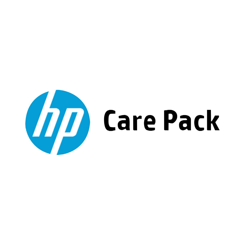 HP Soporte de hardware de 3 años con canal remoto con piezas para DesignJet T1530