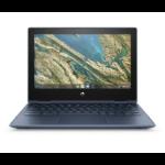 "HP Chromebook x360 11 G3 EE LPDDR4-SDRAM 29,5 cm (11.6"") 1366 x 768 Pixels Touchscreen Intel® Celeron® N 4 GB 32 GB eMMC Wi-Fi 5 (802.11ac) Chrome OS Blauw"