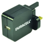 Duracell DRACUSB2-UK Indoor Black mobile device charger