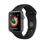 Apple Watch AppleВ SeriesВ 3 GPS, 42mm Space Grey Aluminium Case with Black Sport Band