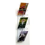 ALBA WIRE WALL MOUNT BROCHURE HOLDER 7 TIER