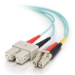 C2G 85514 cable de fibra optica 2 m SC OFNR Turquesa