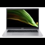 "Acer Aspire 3 A317-53-53FT Notebook 43.9 cm (17.3"") 1920 x 1080 pixels 11th gen Intel® Core™ i5 8 GB DDR4-SDRAM 512 GB SSD Wi-Fi 5 (802.11ac) Windows 10 Home Silver"