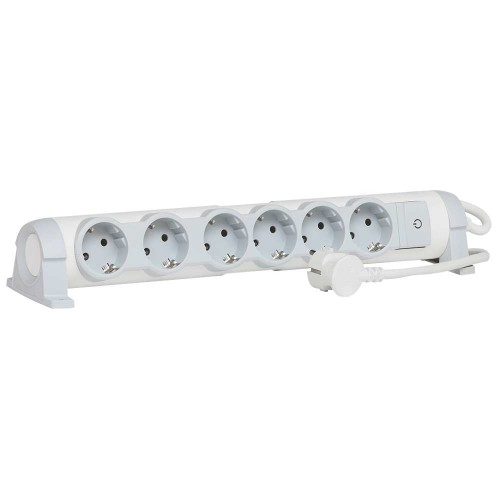 C2G 80823 Indoor 6AC outlet(s) 1.5m Grey, White power extension