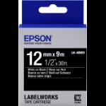 Epson C53S654009 Wit op zwart labelprinter-tape