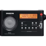 Sangean PR-D7 Black Portable Digital Black Clock/Portable Radio