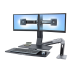 "Ergotron WorkFit -A, Dual 22"" Black"