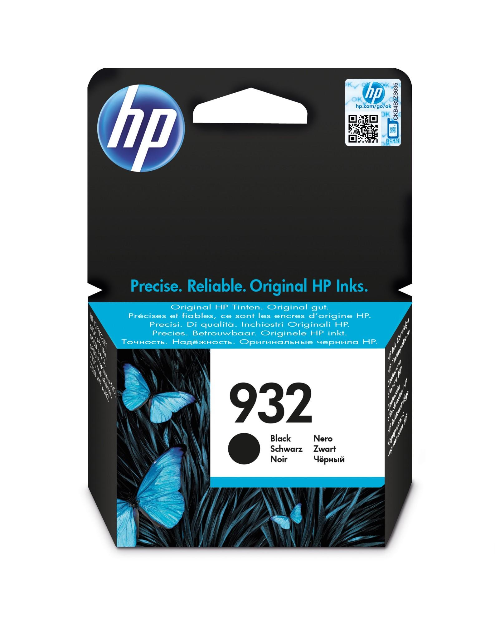 HP 932 Origineel Zwart 1 stuk(s)