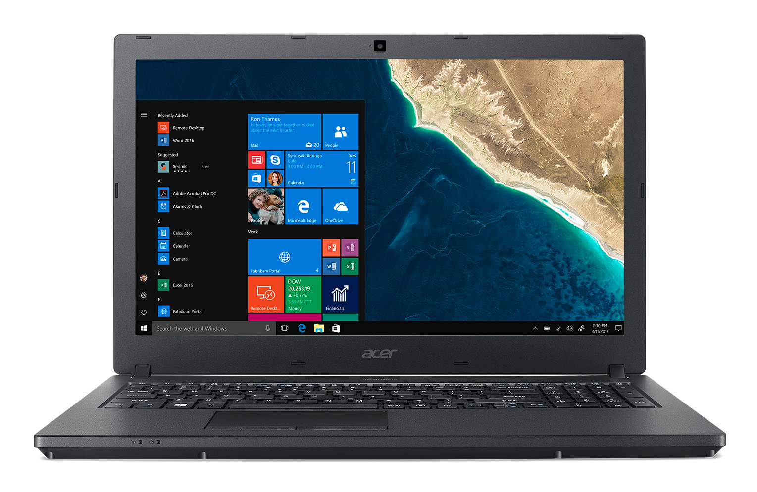 "Acer TravelMate P2 TMP2510-G2-M-529F Zwart Notebook 39,6 cm (15.6"") 1920 x 1080 Pixels Intel® 8ste generatie Core™ i5 i5-8250U 4 GB DDR4-SDRAM 128 GB SSD"