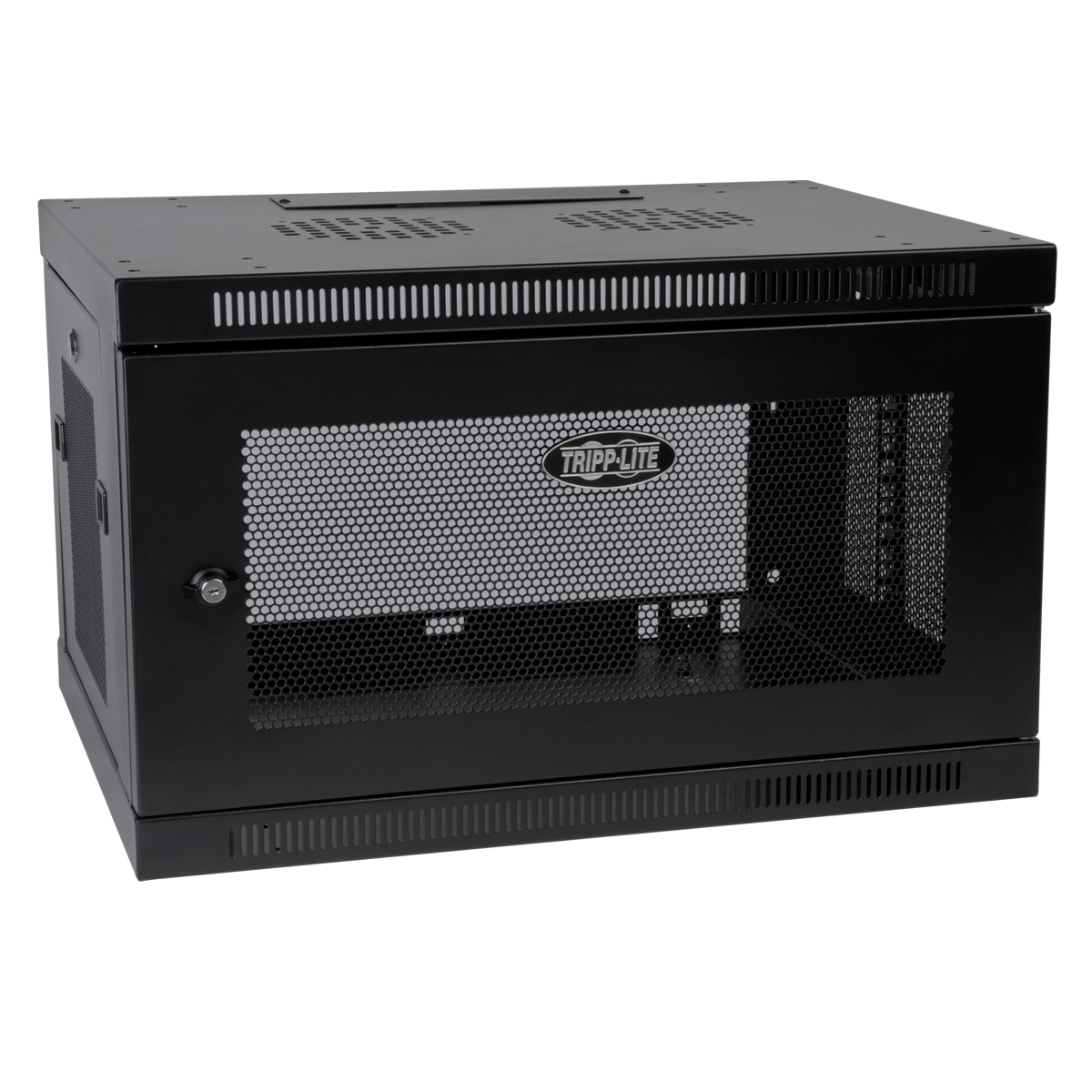 Tripp Lite SmartRack 6U Wall-Mount Standard-Depth Rack Enclosure Cabinet, Black