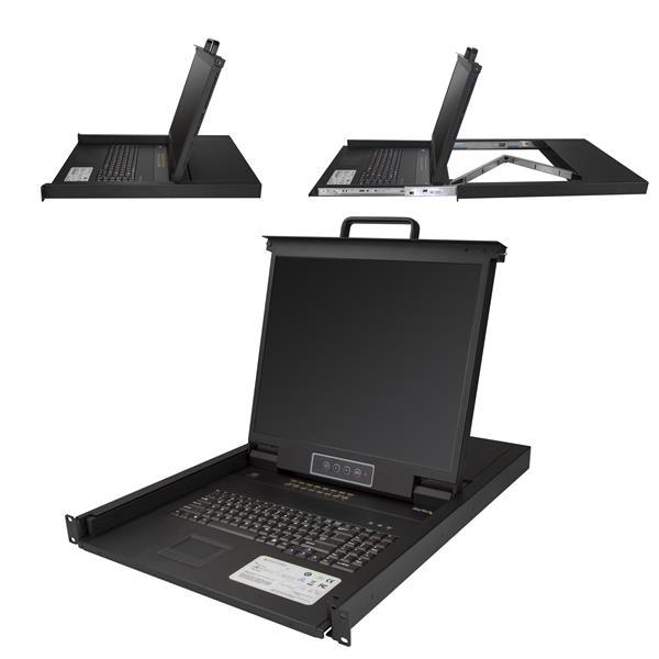 "StarTech.com RKCONS1916K rack console 48.3 cm (19"") 1280 x 1024 pixels Black 1U"