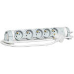 C2G 80817 Indoor 5AC outlet(s) 1.5m Grey,White power extension