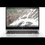 "HP Chromebook x360 14 G1 Silver 35.6 cm (14"") 1920 x 1080 pixels Touchscreen Intel® Pentium® 8 GB DDR4-SDRAM 32 GB eMMC Wi-Fi 5 (802.11ac) Chrome OS"
