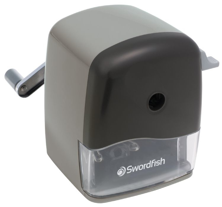 SWORDFISH 40103 PENCIL SHARPENER MANUAL PENCIL SHARPENER BLACK,GREY