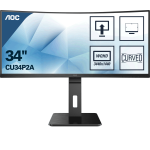 AOC Pro-line CU34P2A LED display 86,4 cm (34 Zoll) 3440 x 1440 Pixel 2K Ultra HD Schwarz
