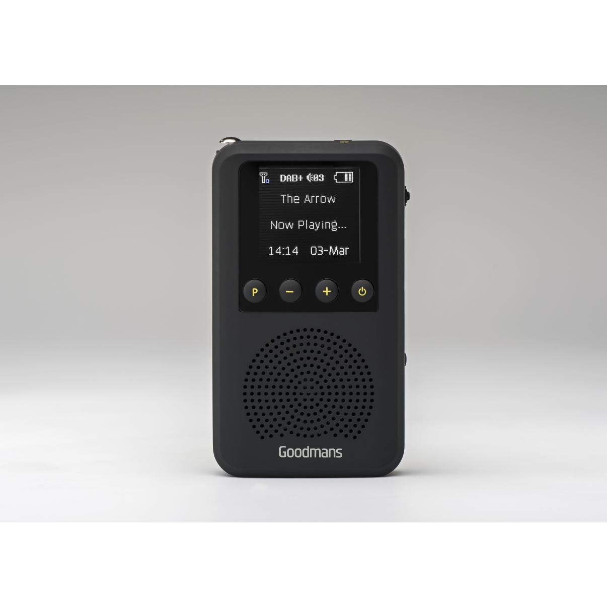Pocket Dab Radio With Speaker - Black
