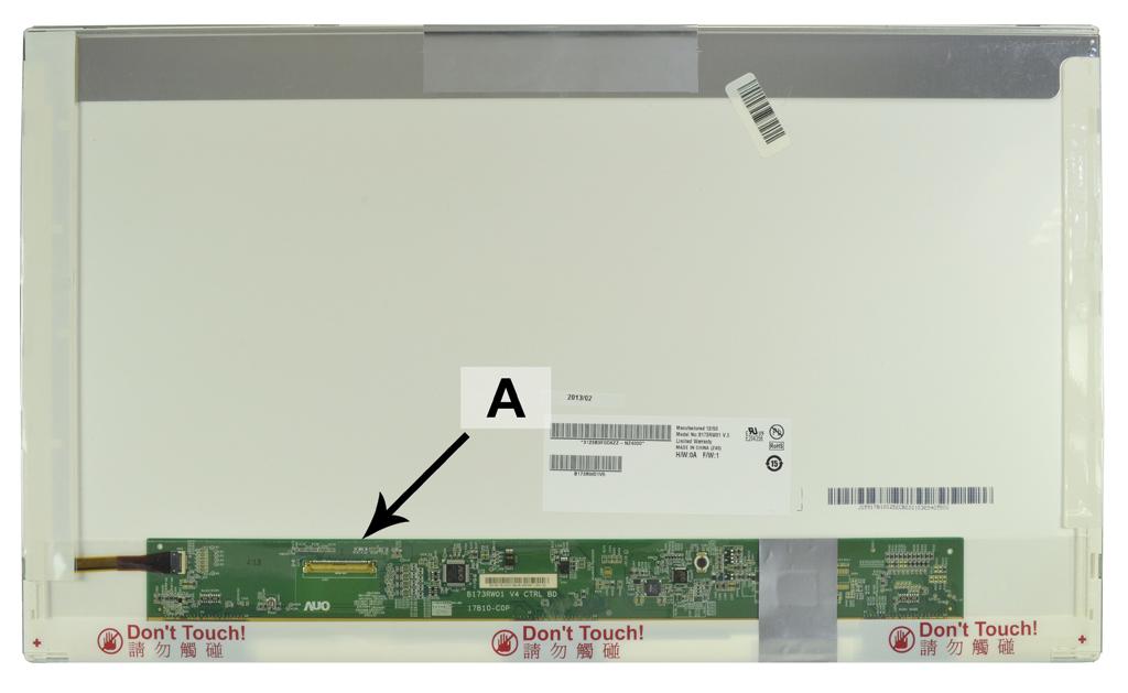 2-Power 17.3 HD+ 1600x900 LED Matte Screen - replaces DYMX0