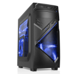 CIT PC NOVA Gaming PC Case Blue LED Fans