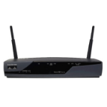 Cisco 877 Fast Ethernet Black wireless router