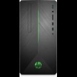 HP Pavilion 590-p0069 DDR4-SDRAM A10-9700 Mini Tower 7th Generation AMD A10-Series APUs 8 GB 2000 GB HDD Windows 10 Home PC Silver, Black
