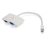 C2G 28272 0.2m Mini DisplayPort HDMI + VGA (D-Sub) White video cable adapter