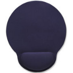Manhattan Wrist-Rest Mouse Pad, Gel material promotes proper hand and wrist position, Blue