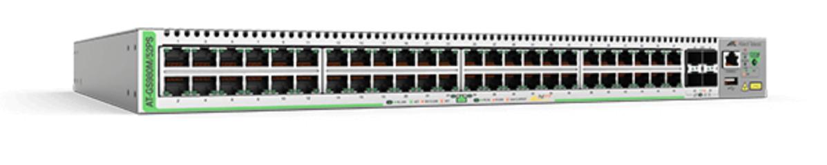 Allied Telesis AT-GS980M/52PS-50 Gestionado Gigabit Ethernet (10/100/1000) Gris Energía sobre Ethernet (PoE)