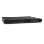 Tripp Lite 3.2-3.8kW Single-Phase Switched PDU, 200-240V Outlets (8 C13), C20 / L6-20P input, 2.59 m Cord, 1U Rack-Mount