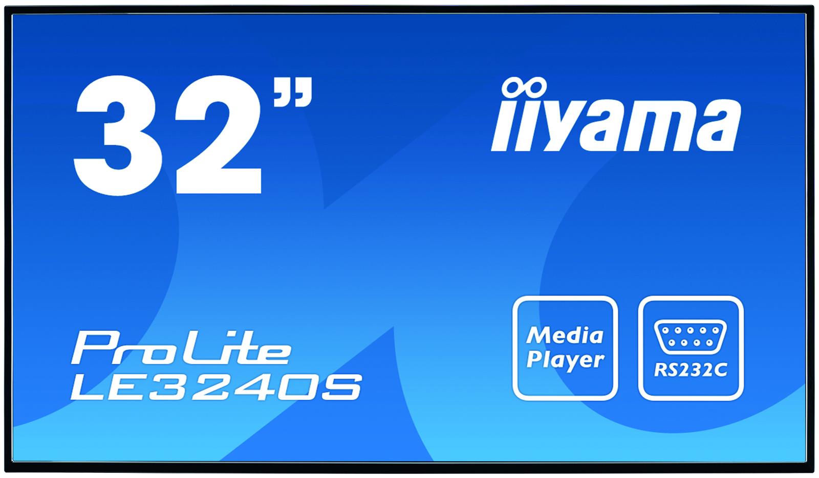 "iiyama ProLite LE3240S-B1 81.3 cm (32"") LED Full HD Digital signage flat panel Black"